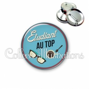 Badge 56mm Etudiant au top (032BLE01)