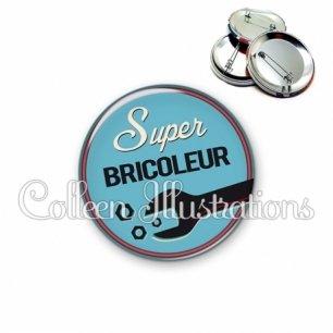Badge 56mm Super bricoleur (032BLE02)