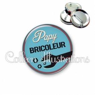 Badge 56mm Papy bricoleur (032BLE02)