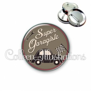 Badge 56mm Super garagiste (032MAR01)