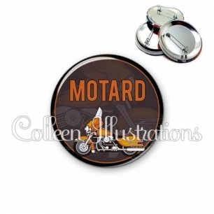 Badge 56mm Motard (032MAR03)