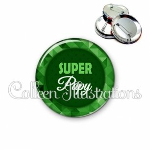 Badge 56mm Super papy (033VER01)