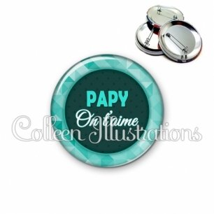Badge 56mm Papy on t'aime (033VER02)