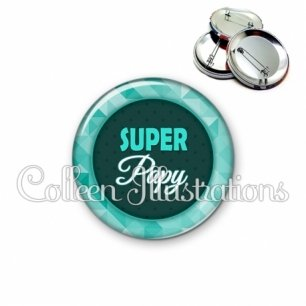 Badge 56mm Super papy (033VER02)