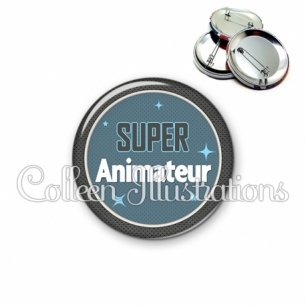 Badge 56mm Super animateur (034BLE01)