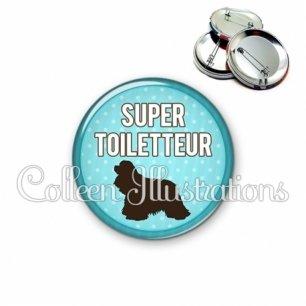 Badge 56mm Super toiletteur (035BLE01)