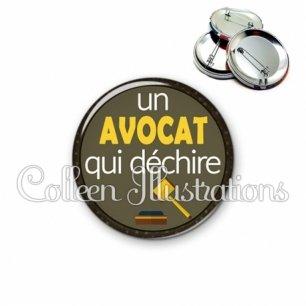 Badge 56mm Avocat qui déchire (035MAR01)
