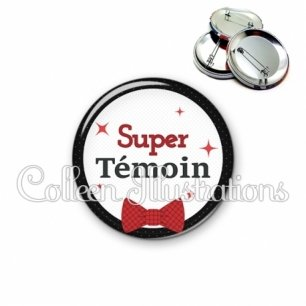 Badge 56mm Super témoin (036NOI01)
