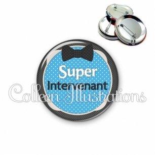 Badge 56mm Super intervenant (037BLE01)