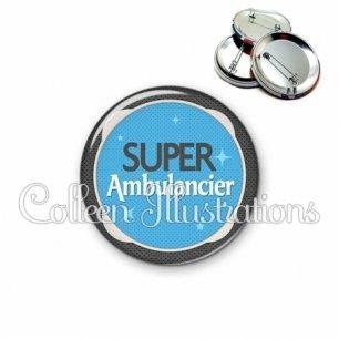 Badge 56mm Super ambulancier (037BLE04)