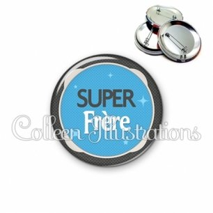Badge 56mm Super frère (037BLE04)