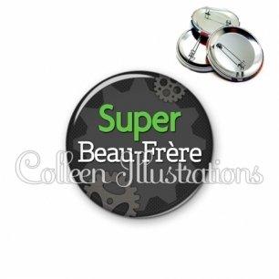 Badge 56mm Super beau-frère (038GRI01)