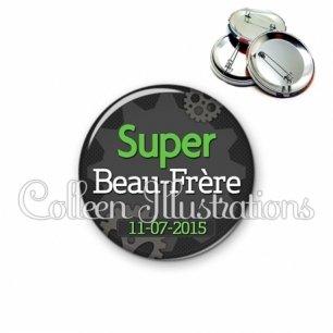 Badge 56mm Super beau-frère perso (038GRI01)