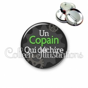 Badge 56mm Copain qui déchire (038GRI01)
