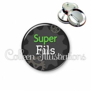 Badge 56mm Super fils (038GRI01)