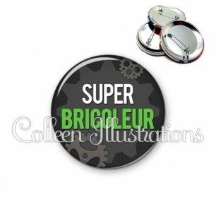 Badge 56mm Super bricoleur (038GRI01)