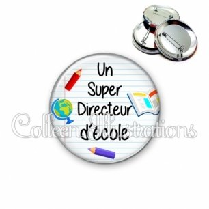 Badge 56mm Super directeur (040BLA01)