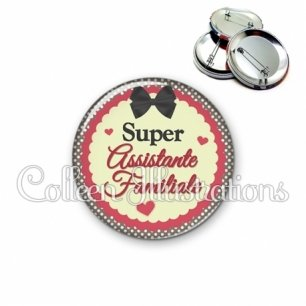 Badge 56mm Super assistante familiale (041MAR01)
