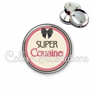 Badge 56mm Super cousine (042MAR01)