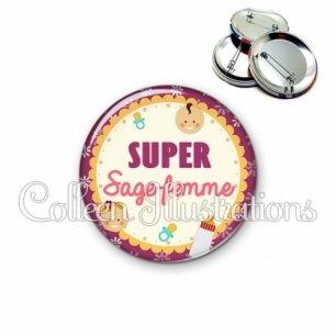 Badge 56mm Super sage-femme (044VIO01)