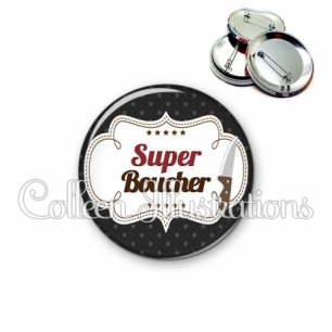 Badge 56mm Super boucher (045NOI01)