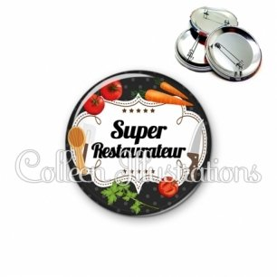 Badge 56mm Super restaurateur (045NOI02)