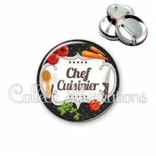 Badge 56mm Chef cuisinier (045NOI04)
