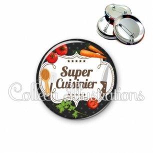 Badge 56mm Super cuisinier (045NOI04)