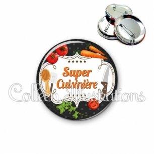 Badge 56mm Super cuisinière (045NOI05)