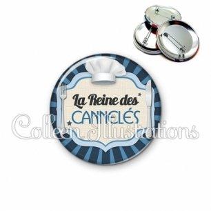 Badge 56mm La reine des cannelés (048BLE01)