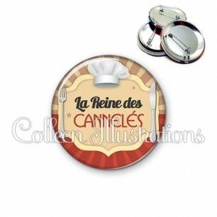 Badge 56mm La reine des cannelés (048MAR01)
