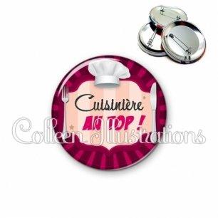 Badge 56mm Cuisinière au top (048ROS01)
