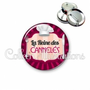 Badge 56mm La reine des cannelés (048ROS01)