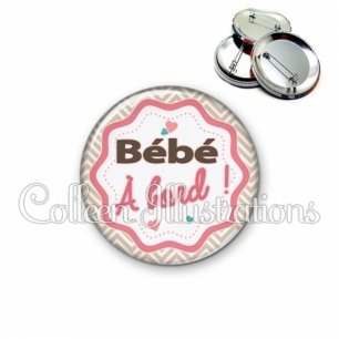 Badge 56mm Bébé à bord (049MAR01)