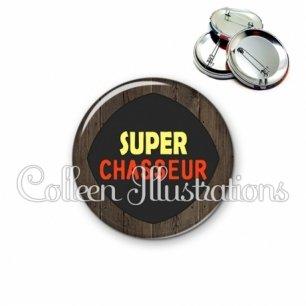 Badge 56mm Super chasseur (050MAR01)