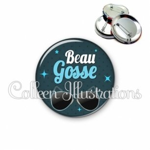 Badge 56mm Beau gosse (053BLE01)