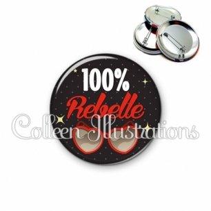 Badge 56mm 100% rebelle (053NOI01)