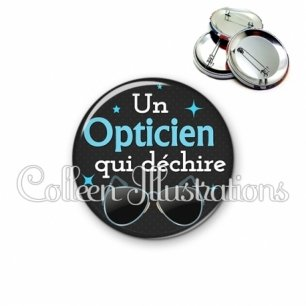 Badge 56mm Opticien qui déchire (053NOI04)
