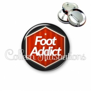 Badge 56mm Foot addict (055ROU01)