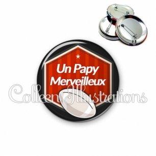 Badge 56mm Papy merveilleux (055ROU02)