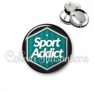 Badge 56mm Sport addict (055VER01)