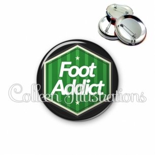 Badge 56mm Foot addict (055VER02)
