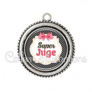 Pendentif résine Super juge (008NOI02)