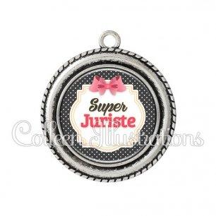 Pendentif résine Super juriste (008NOI02)