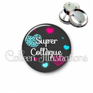 Badge 56mm Super collègue (057GRI01)
