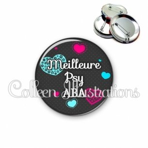 Badge 56mm Meilleure psy ABA (057GRI01)