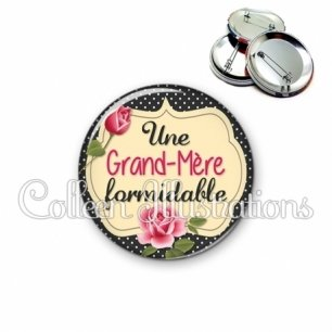 Badge 56mm Grand-mère formidable (061NOI01)