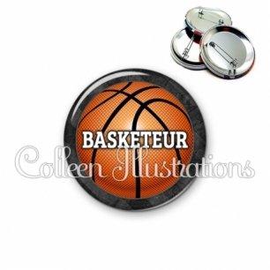 Badge 56mm Basketteur (062GRI01)