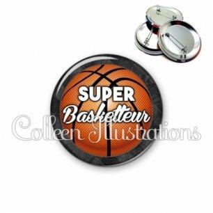 Badge 56mm Super basketteur (062GRI01)