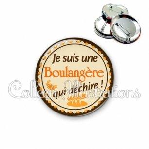 Badge 56mm Boulangère qui déchire (064MAR01)